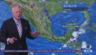 Despierta con Tiempo: Potencial de trombas en Chiapas y Península de Yucatán