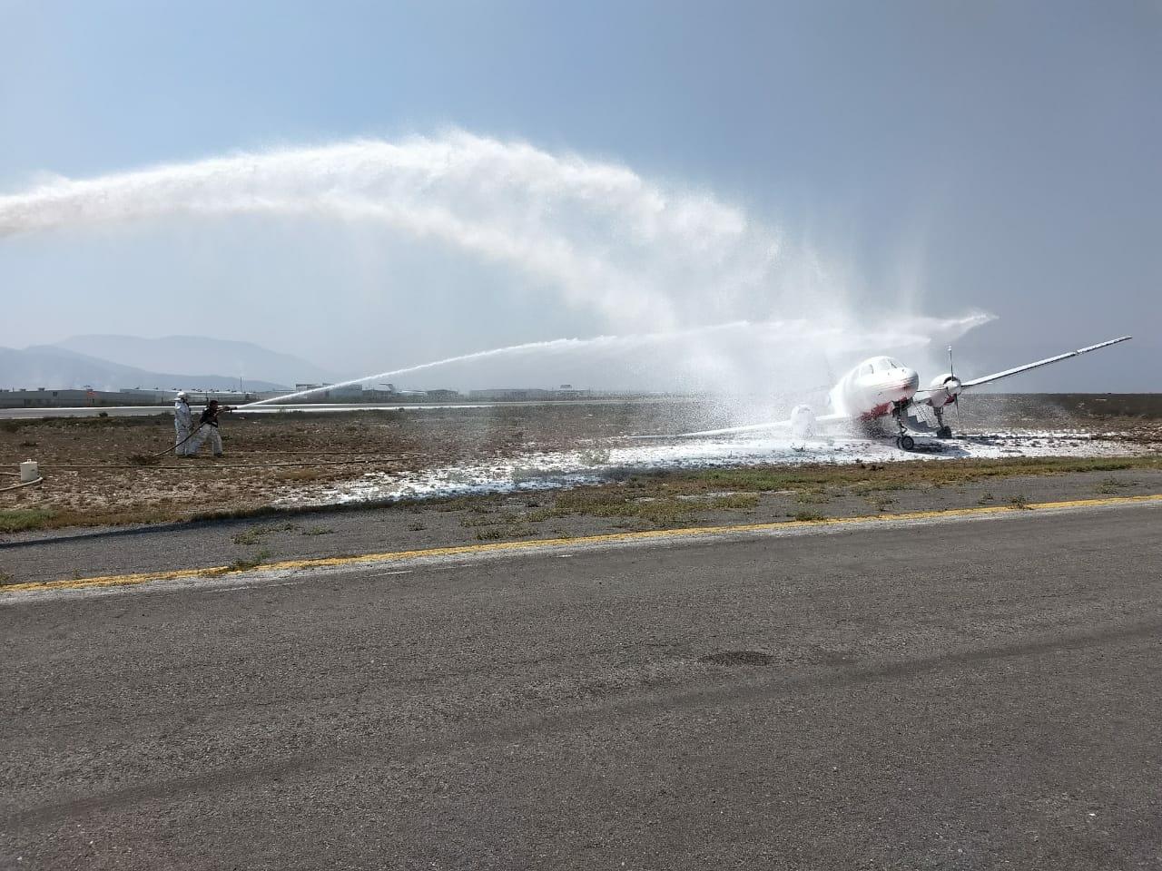 Avión se despista en aeropuerto de Ramos Arizpe Coahuila