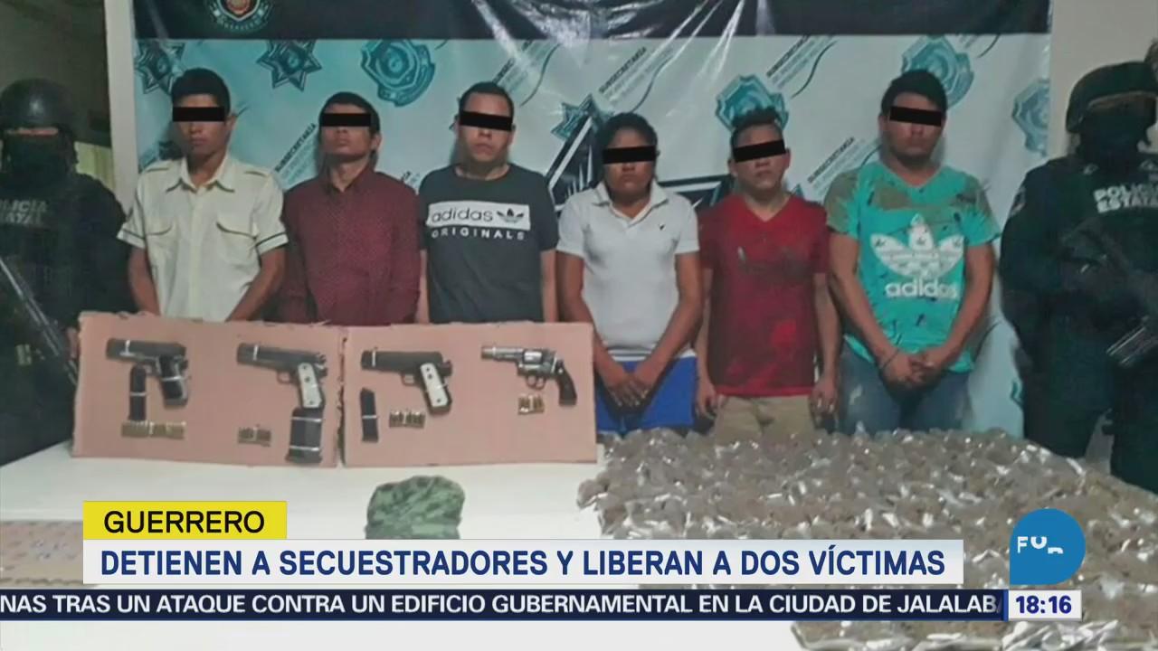 Detienen Secuestradores Liberan Dos Víctimas Guerrero