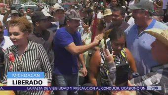 'El Abuelo' es liberado y regresa a Tepalcatepec
