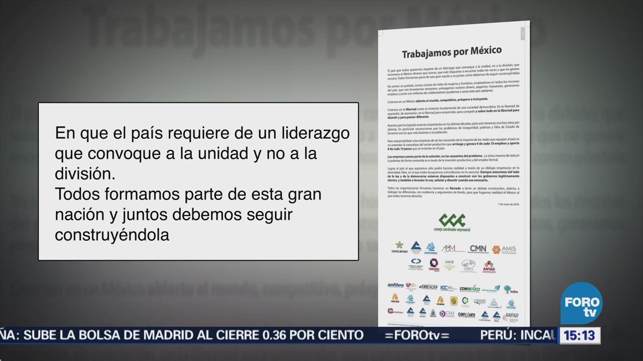 País Requiere Liderazgo Convoque Unidad, Señalan Empresarios