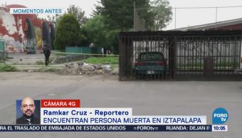 Encuentran a un hombre muerto en Iztapalapa