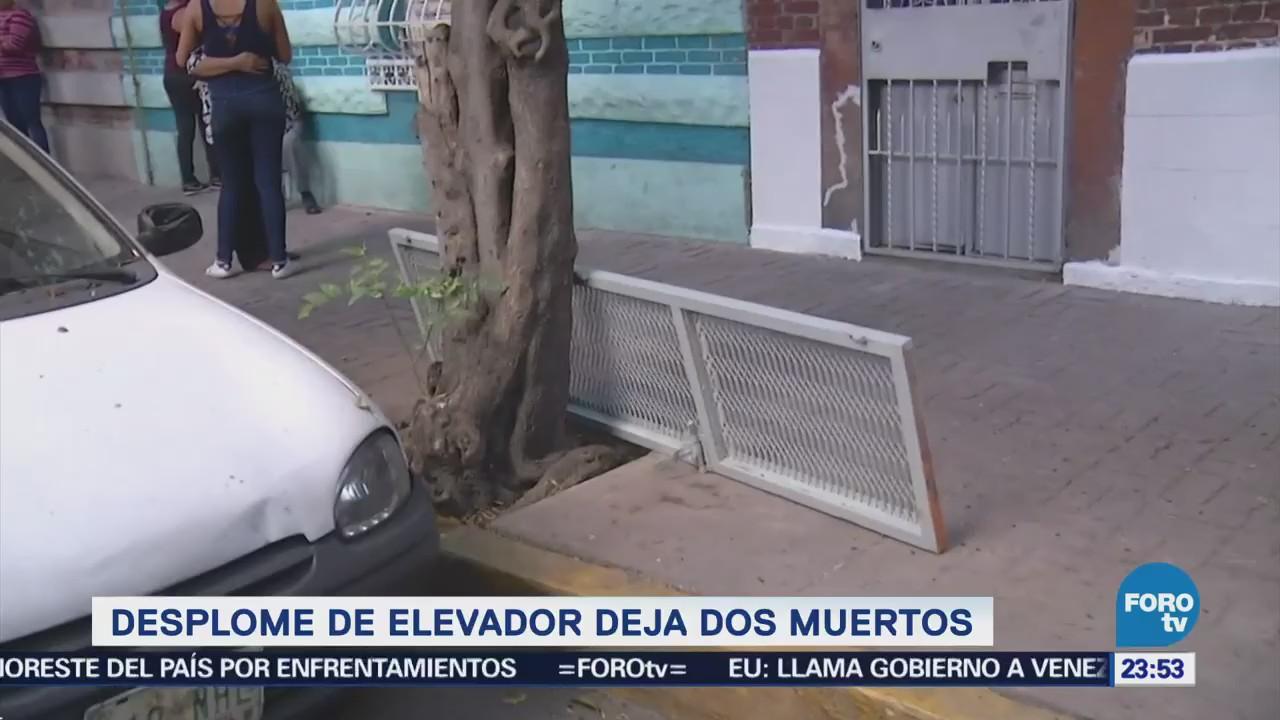 Cae Elevador Mueren Personas Colonia Guerrero CDMX