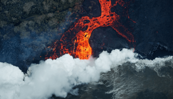 Imagen, Rios Lava, Kilauea, Espacio, ESA, Imagen Satelital