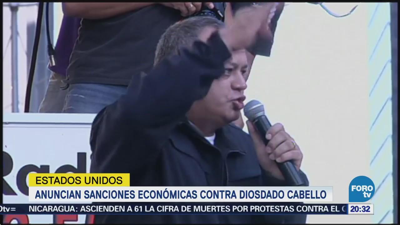 EU Impone Sanciones Dirigente Chavista Diosdado Cabello