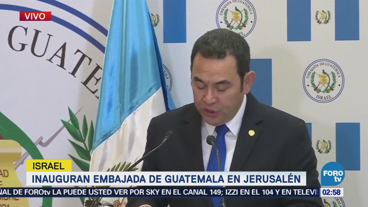 Inauguran embajada de Guatemala en Jerusalén