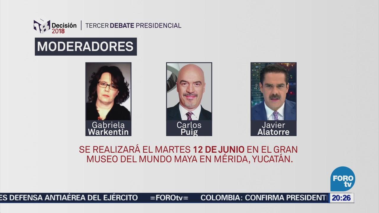 Ine Define Moderadores Tercer Debate Presidencial