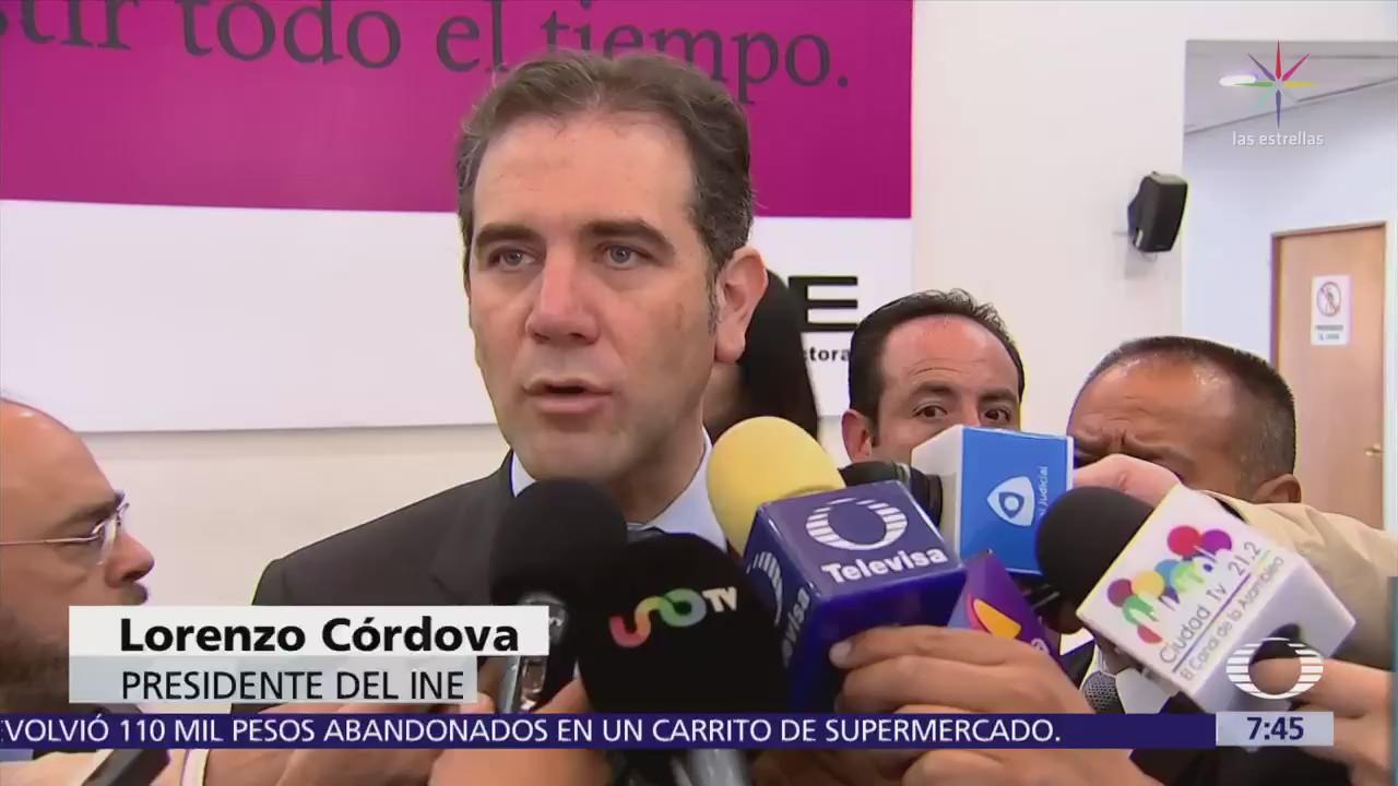 INE se prepara para cualquier escenario tras elecciones, reitera Lorenzo Córdova