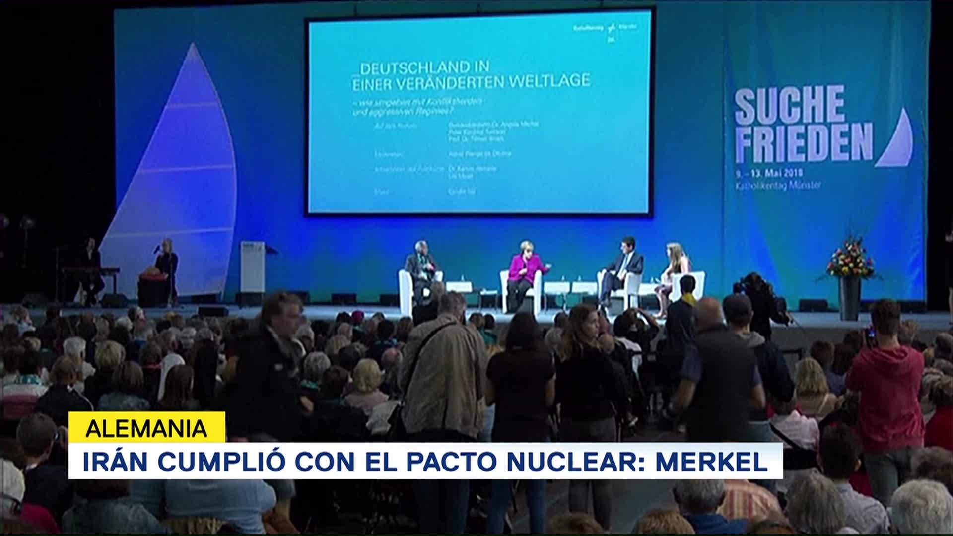 Irán Cumplió Pacto Nuclear Angela Merkel