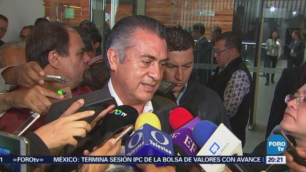 Jaime Rodríguez El Bronco se manifiesta contra