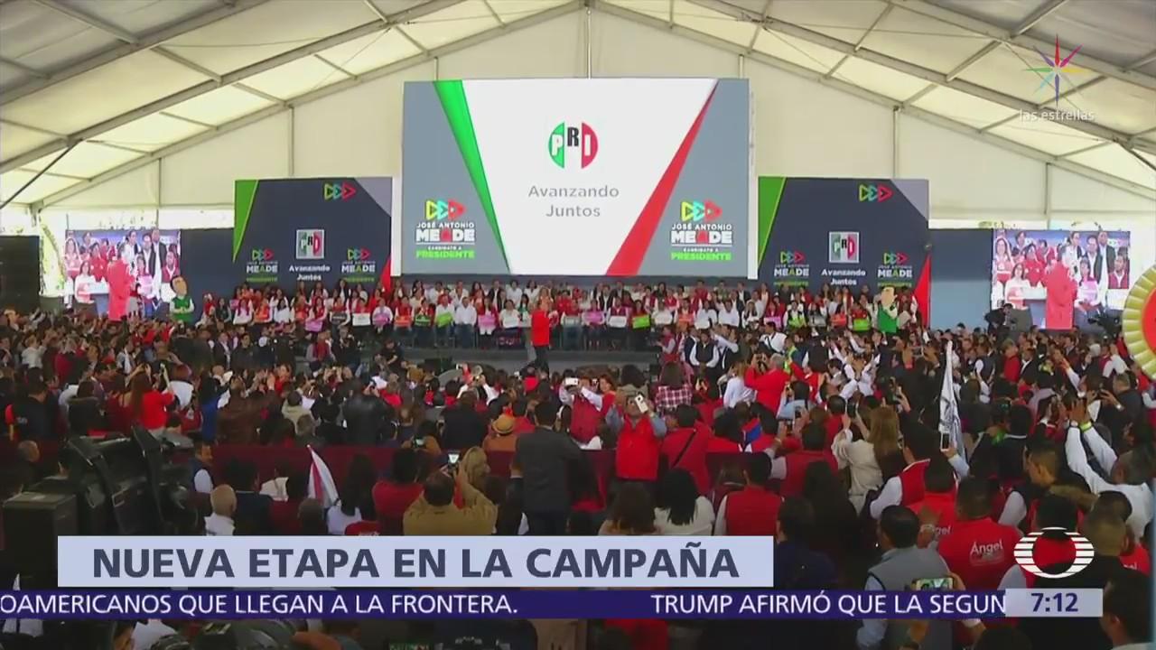 José Antonio Meade hace relanzamiento de su campaña, desde sede del PRI