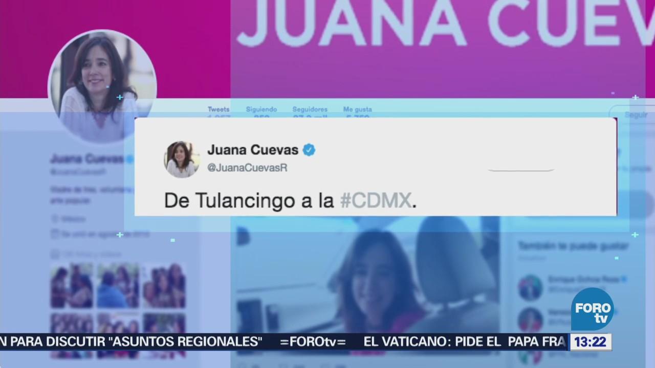Juana Cuevas habla sobre las actividades de campaña de Meade
