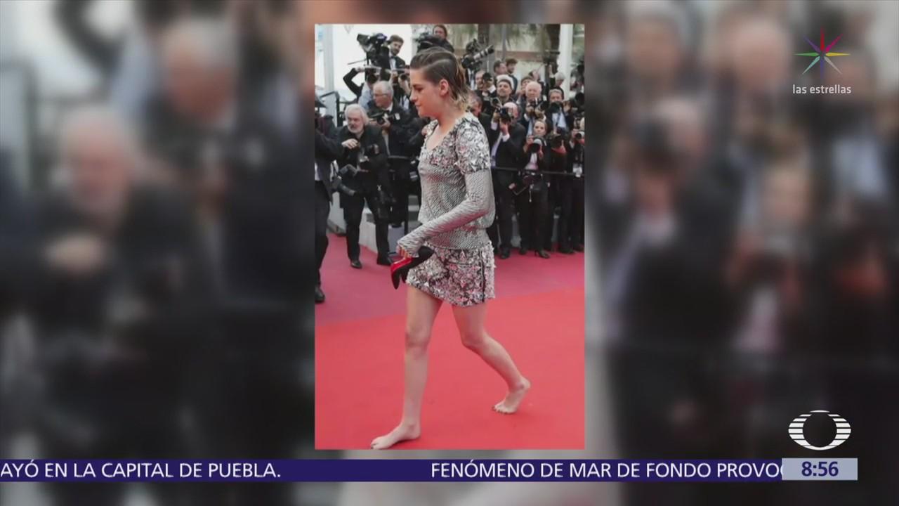 Kristen Stewart se quita los tacones en Cannes a modo de protesta