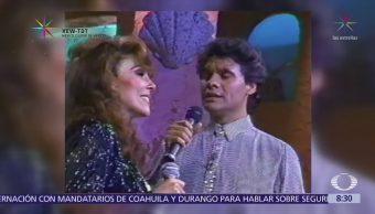 Luis Miguel y Juan Gabriel cantan 'Si nos dejan' a Verónica Castro
