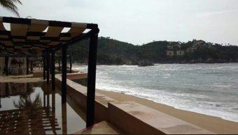 Emiten alerta preventiva por mar de fondo en costas de Oaxaca