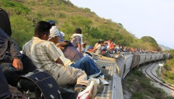 Migrante hondureño se fractura tras caer de 'La Bestia'