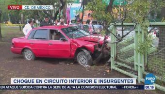 Muere conductor tras chocar en Circuito Interior e Insurgentes, CDMX
