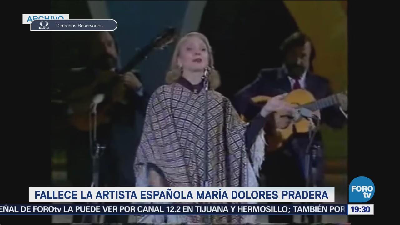 Muere Artista Española María Dolores Pradera