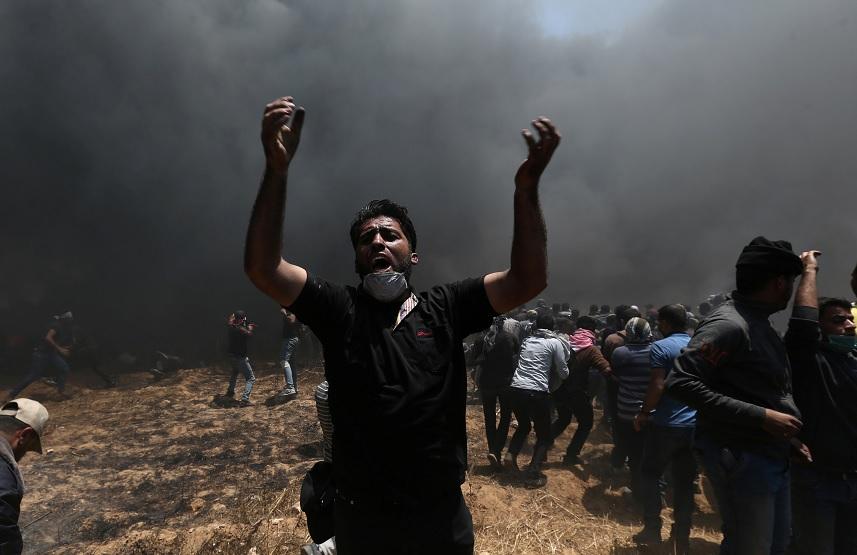 Suman 41 palestinos muertos en Gaza protestas contra embajada de EU Jerusalén