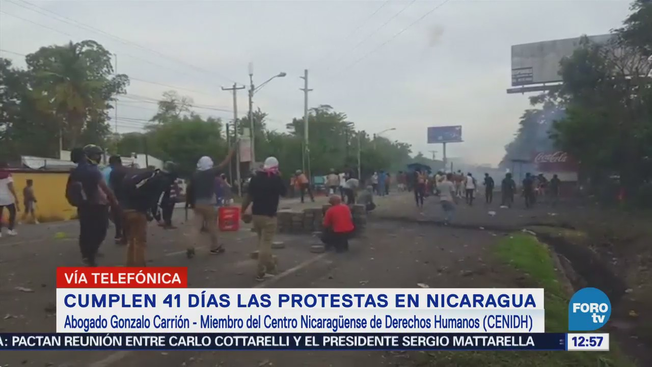 Nicaragua cumple 41 días de protestas contra Daniel Ortega