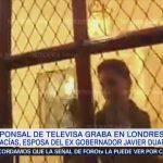 policial en el domicilio de Karime Macías