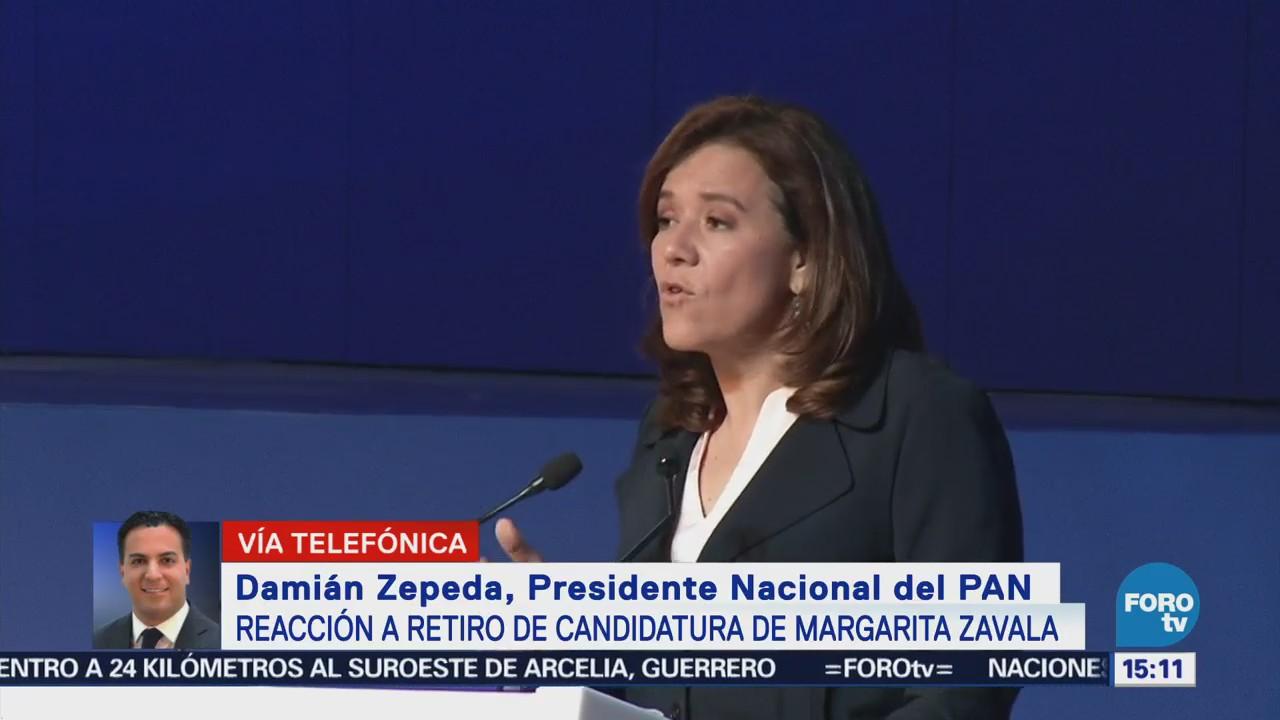 PAN pide a Margarita Zavala sumar esfuerzos con el Frente