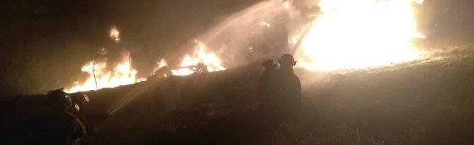 pipa cargada combustible explota y se incendia carretera matamoros reynosa