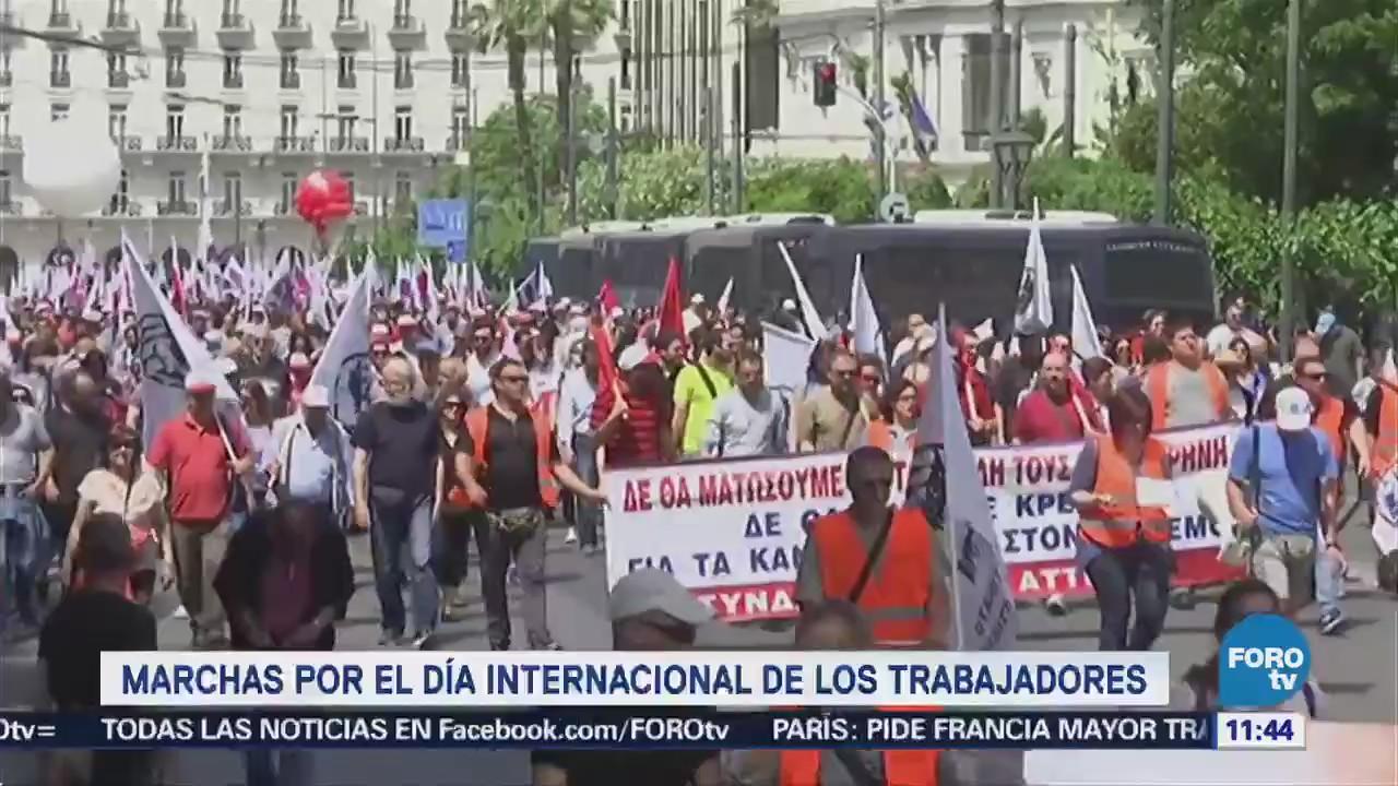 Realizan marchas en países del mundo por el Día Internacional de los Trabajadores