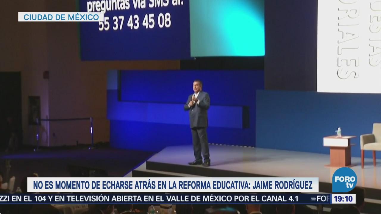 Reforma Educativa Mantiene Jaime Rodríguez