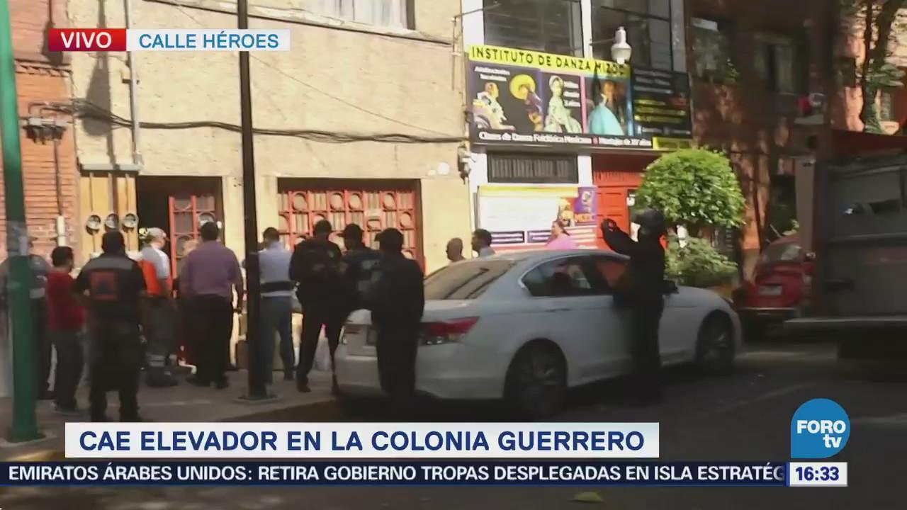 Se desploma elevador en inmueble de la colonia Guerrero