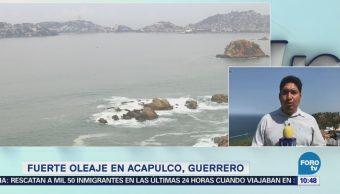 Se Mantiene Calma Costa Acapulco Mar De Fondo