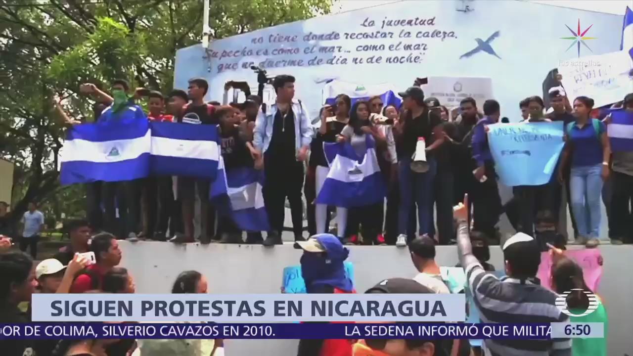 Se reanudan las protestas en Nicaragua en contra del presidente ...