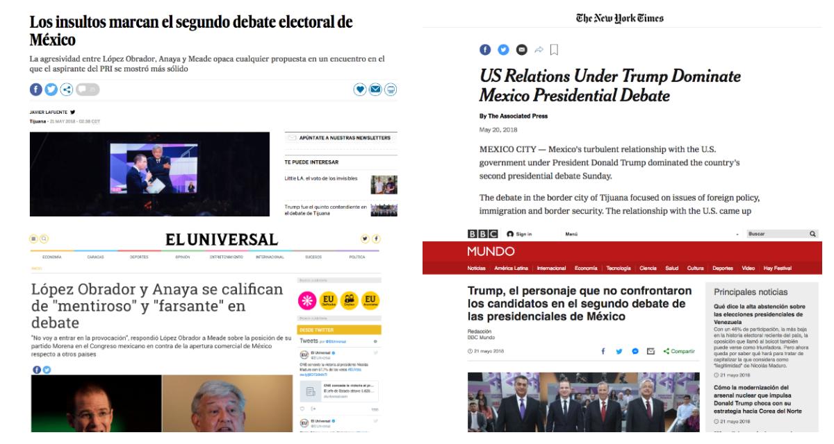 segundo-debate-presidencia-mexico-2018-anaya-bronco-amlo-meade-prensa-internacional-extranjeros
