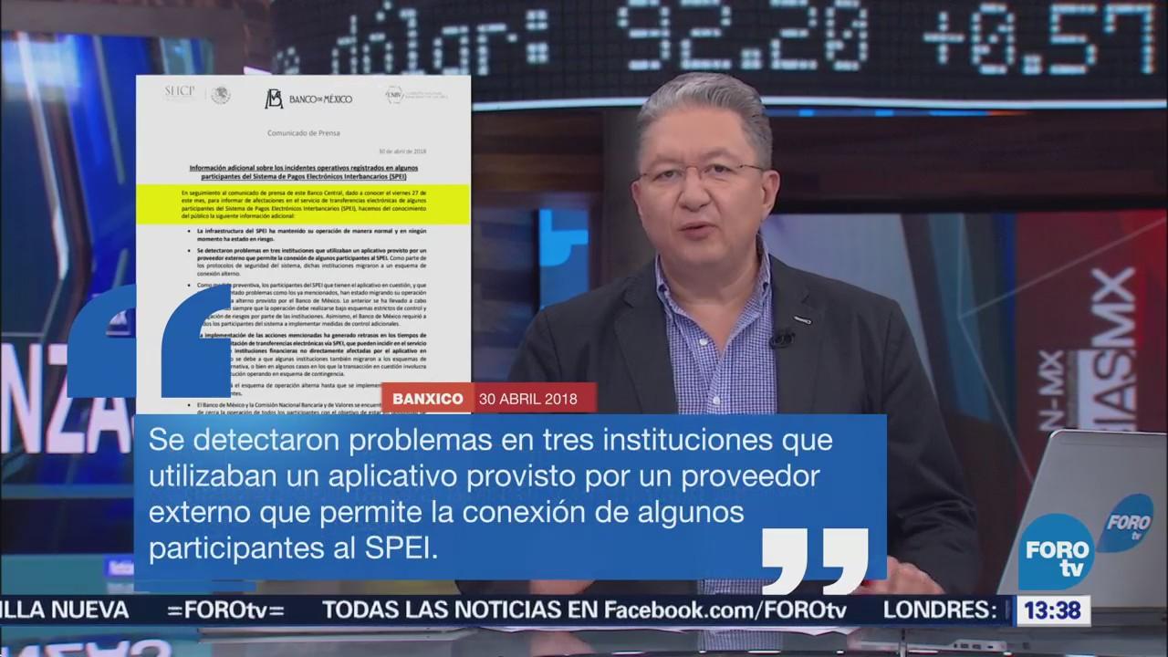 SPEI Funciona Normalidad Banco De México,