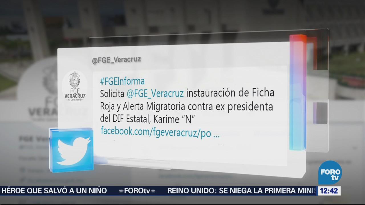 Veracruz pide a PGR ficha roja contra Karime Macías