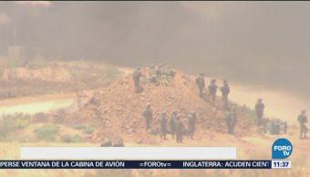 Violentas protestas tienen lugar en Gaza por inauguración de embajada de EU en Jerusalén