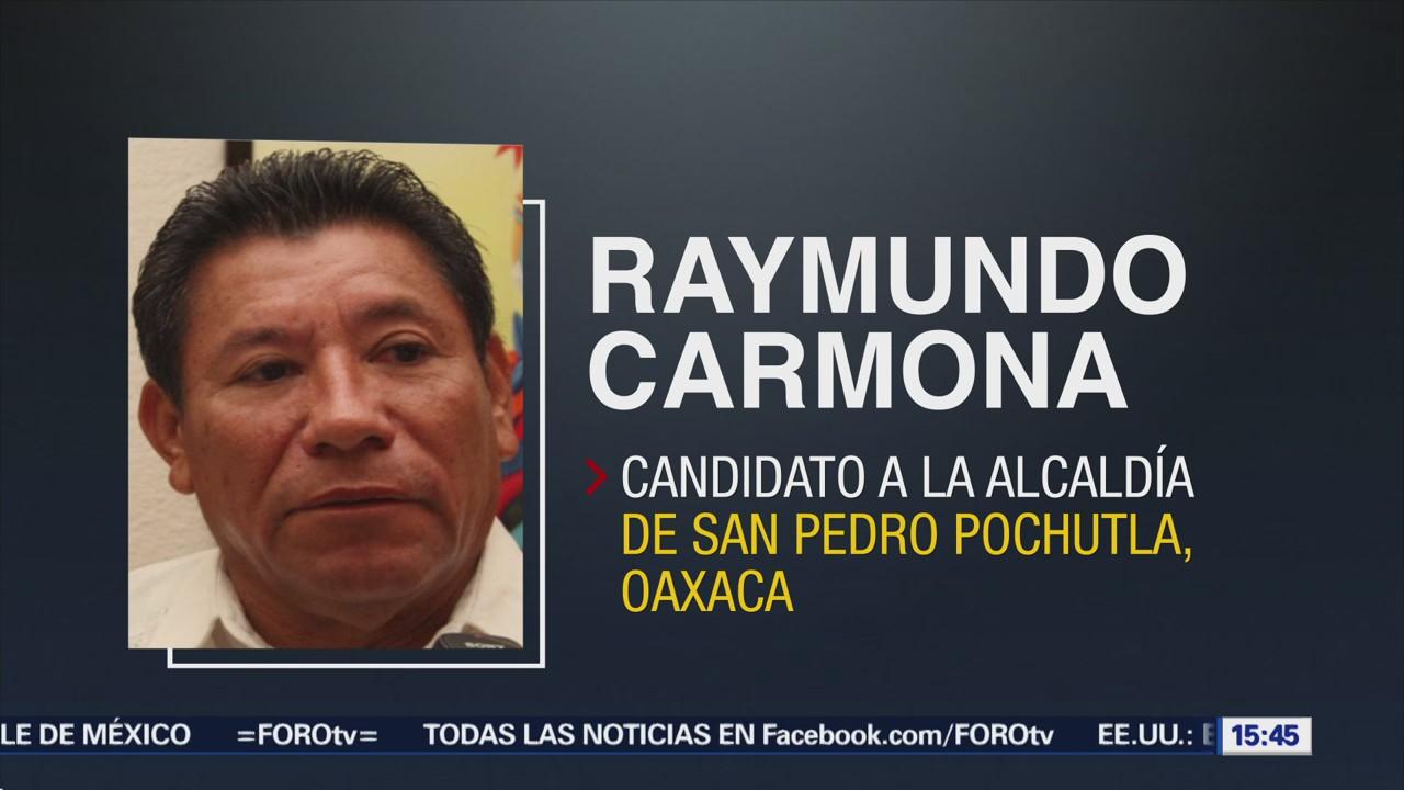 Atacan Candidato Pochutla, Oaxaca