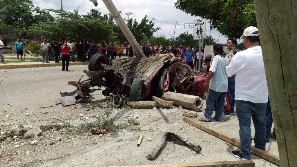 Tráiler sin frenos deja cinco muertos 12 heridos en Chiapas