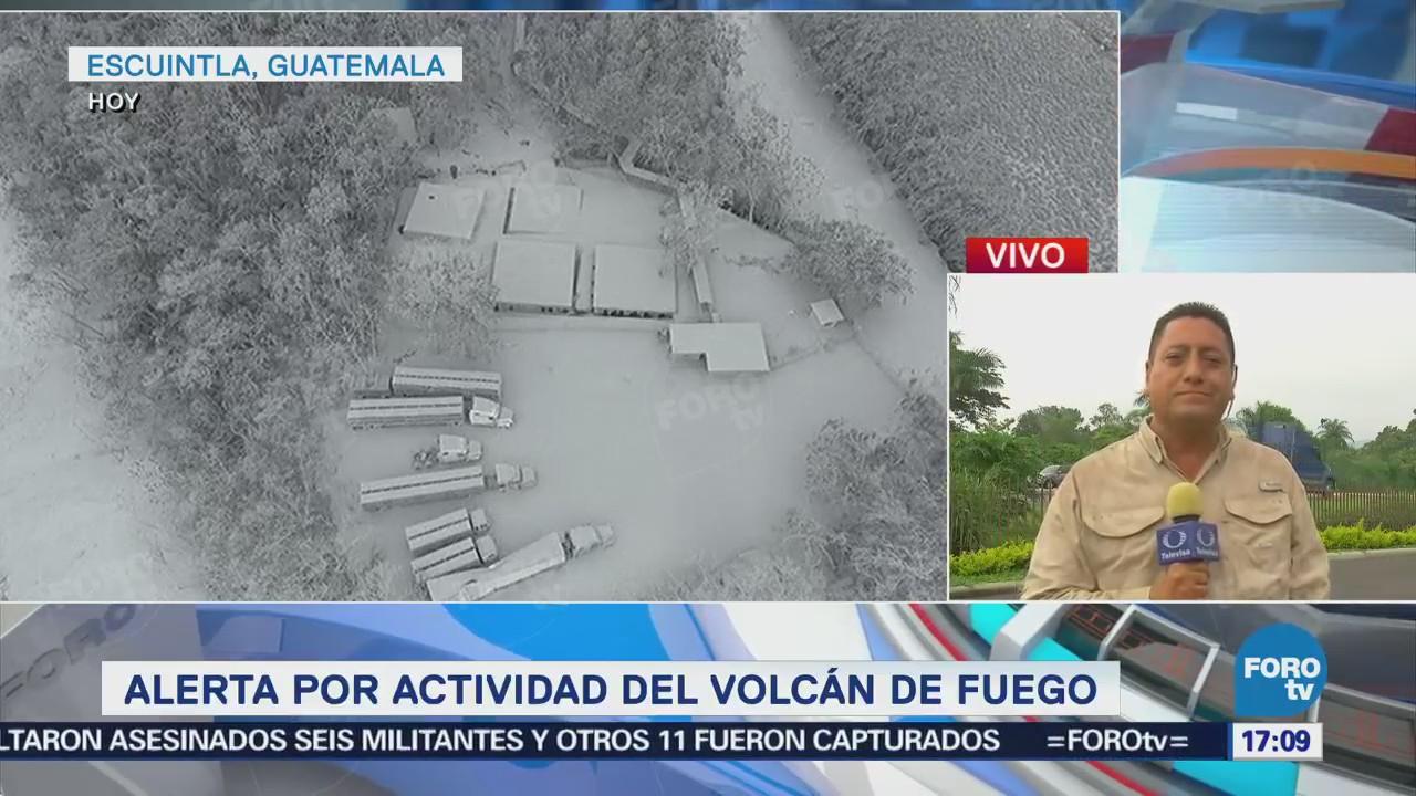 Alerta Actividad Volcán De Fuego Forotv, Francisco Santa Anna