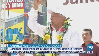 Andrés Manuel López Obrador Visitó Tapachula Chiapas