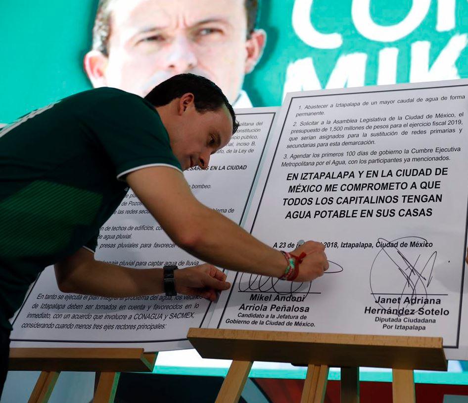 mikel arriola firma pacto concluir acuaferico iztapalapa