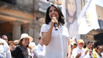 Alejandra Barrales, Alcanza Sheinbaum, En encuestas
