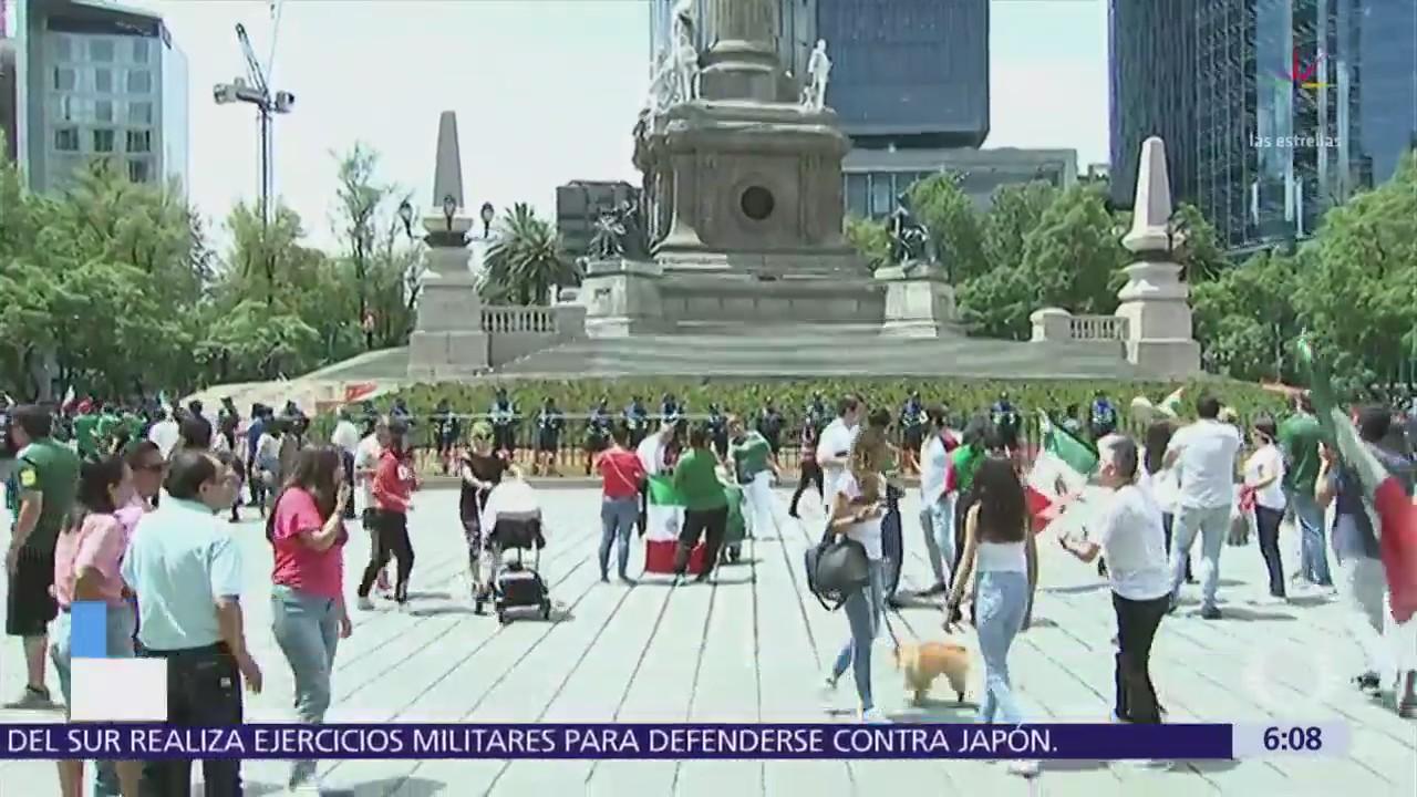 Calles tranquilas en CDMX tras festejos por triunfo de la Selección Nacional