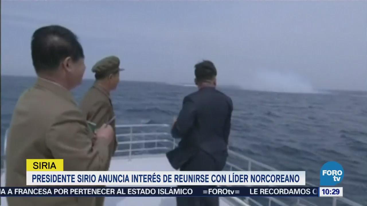 Presidente Sirio Anuncia Interés Reunirse Líder Norcoreano