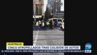 Cinco Atropellados Tras Colisión Autos Australia