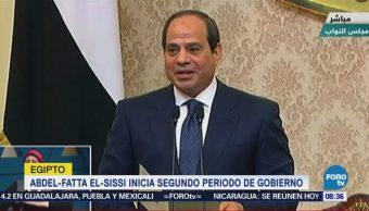 Abdel Fatta El Sissi Inicia Segundo Mandato Consecutivo