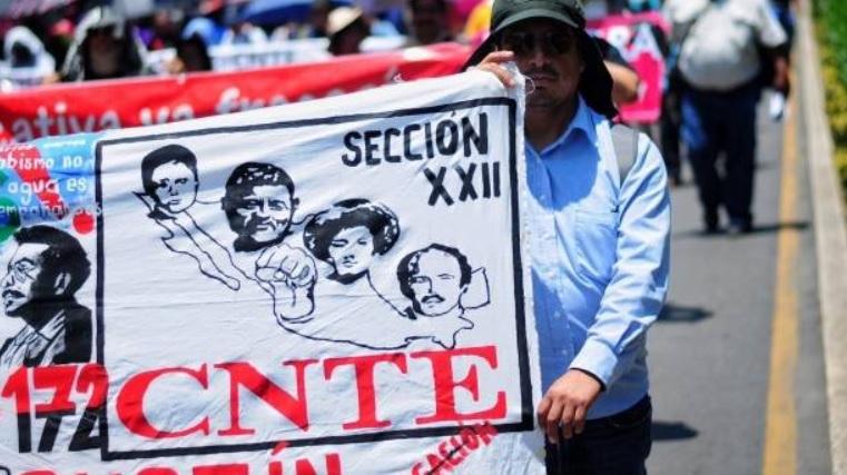 CNTE mantiene sexto día de paro de labores en Chiapas
