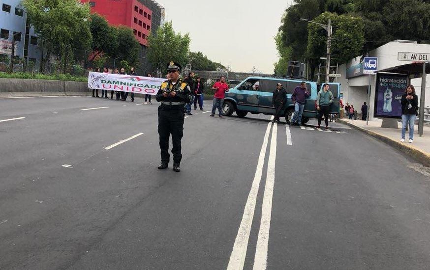 Damnificados del 19-S retiran bloqueos en calzada de Tlalpan