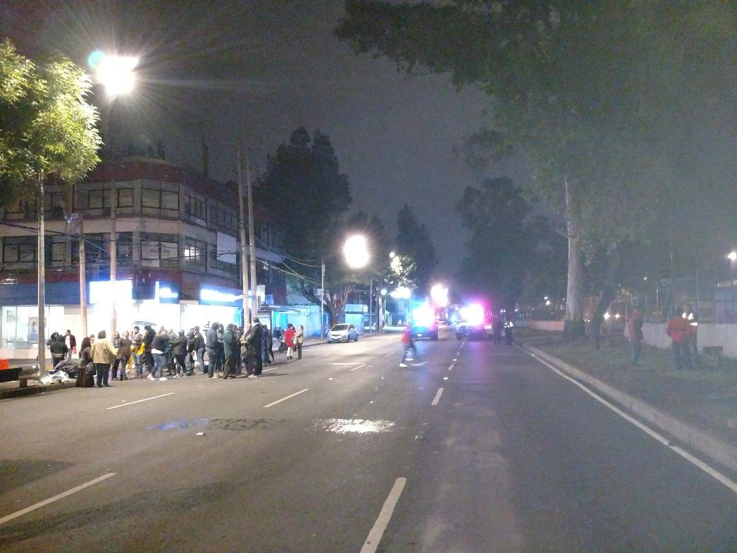 Damnificados del sismo retiran bloqueo en Tlalpan