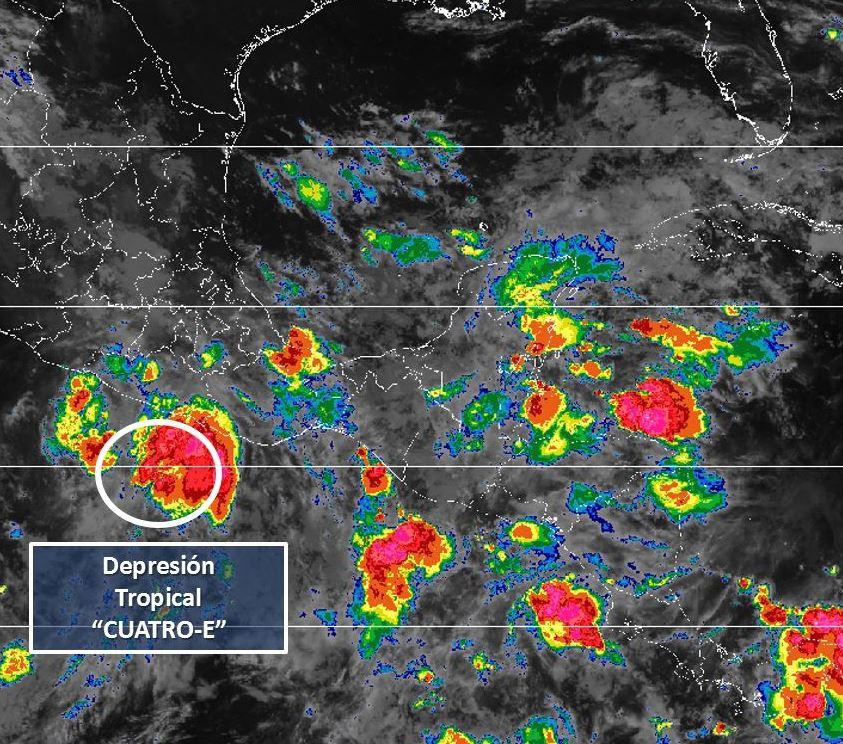 tormenta tropical bud se ubica mar cortes